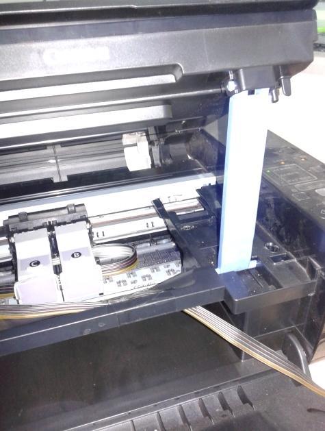 佳能MP288改连供后警告灯亮不能打印